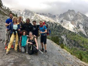 Gruppenfoto auf der Spitze