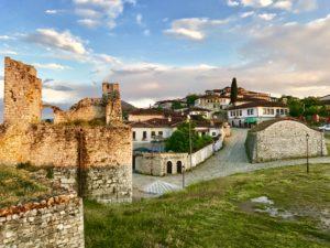 Sonnenuntergang im Schloss von Berat