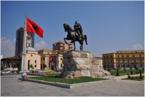 Skenderbeg-Statue in Tirana
